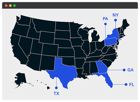 US States with New Family Office Activity - October 2020