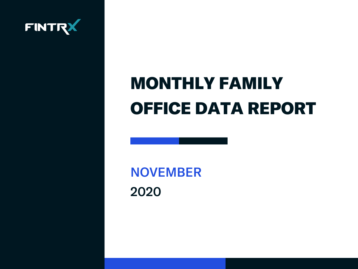FINTRX Monthly Family Office Data Report - November 2020